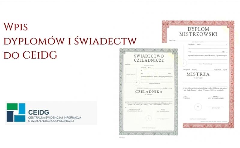 Wpis dokumentów do CEiDG
